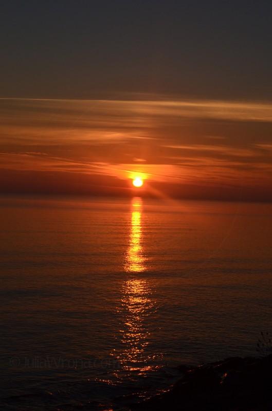 Sunrise in Marquette, Michigan