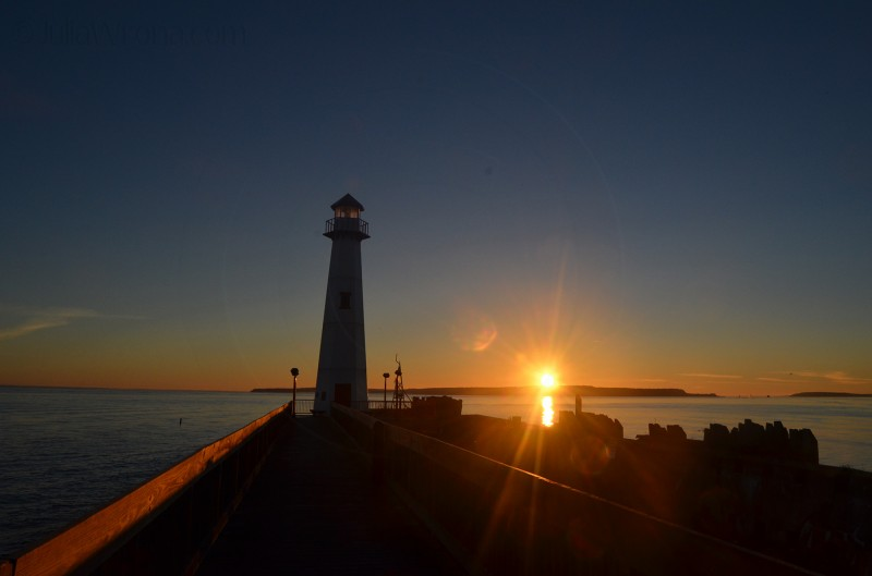 Sunrise in St. Ignace, Michigan