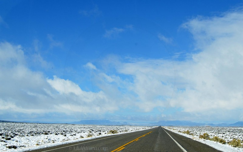 Unexpected snow storm near Walsenburg, Colorado