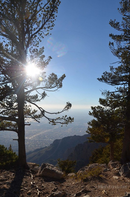 From the top of Sandia Peak