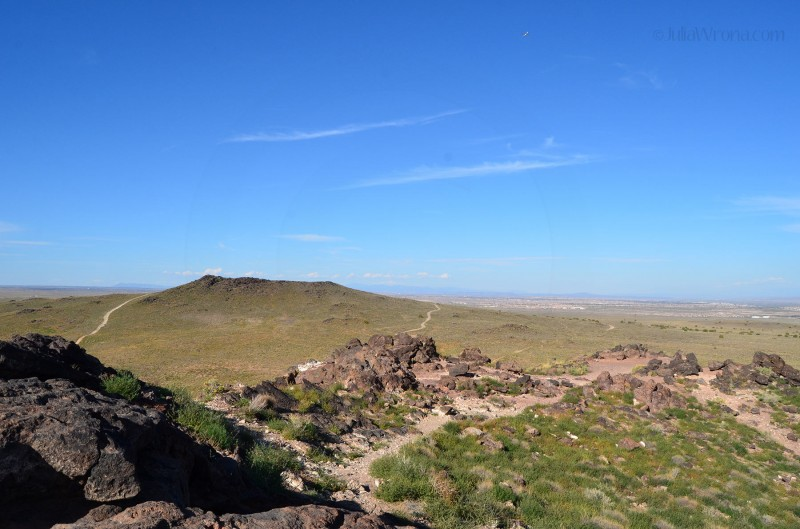 View of Vulcan Volcano from the top of Black Volcano in Petroglyph National Monument