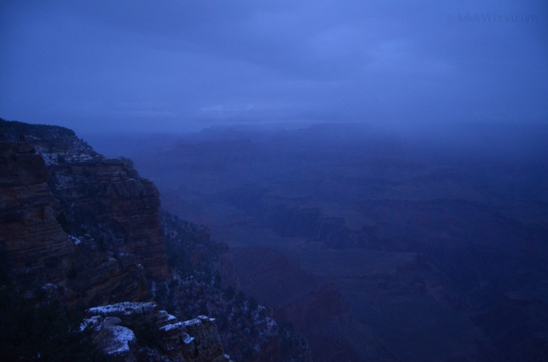 Cold, snowy morning at Grand Canyon
