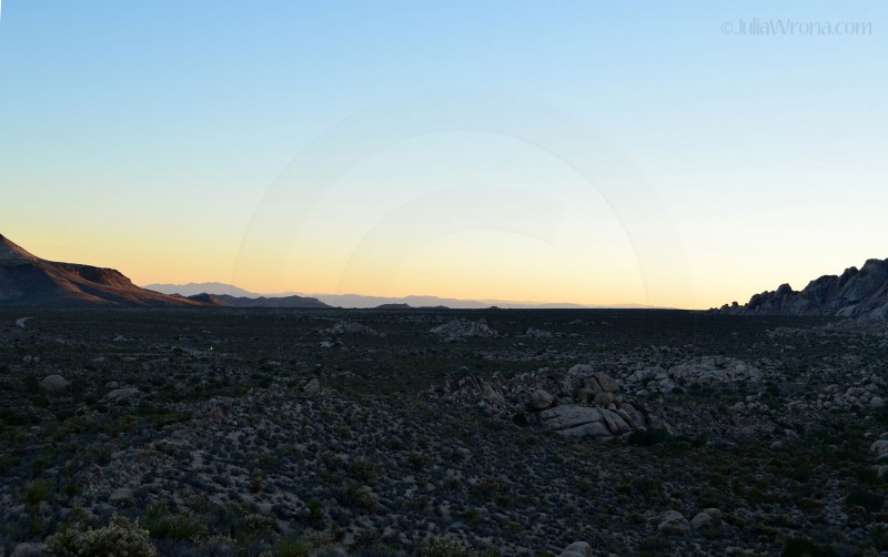 Sunset in Mojave