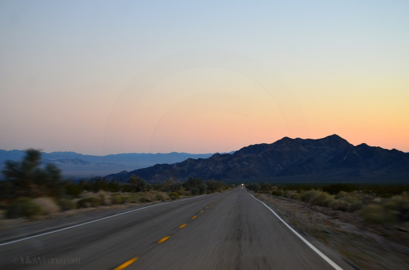 Road Mojave National Preserve Sunset