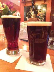 Double Bock on the Left, Trooper IPA on the right.