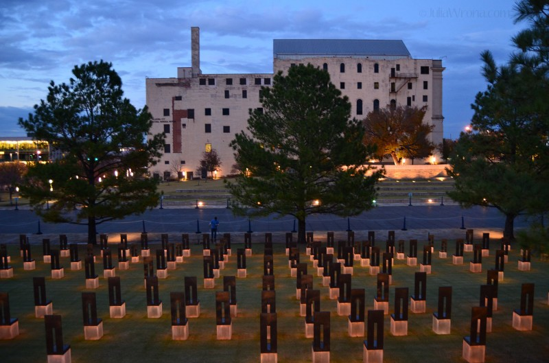 Oklahoma City Memorial at Dusk
