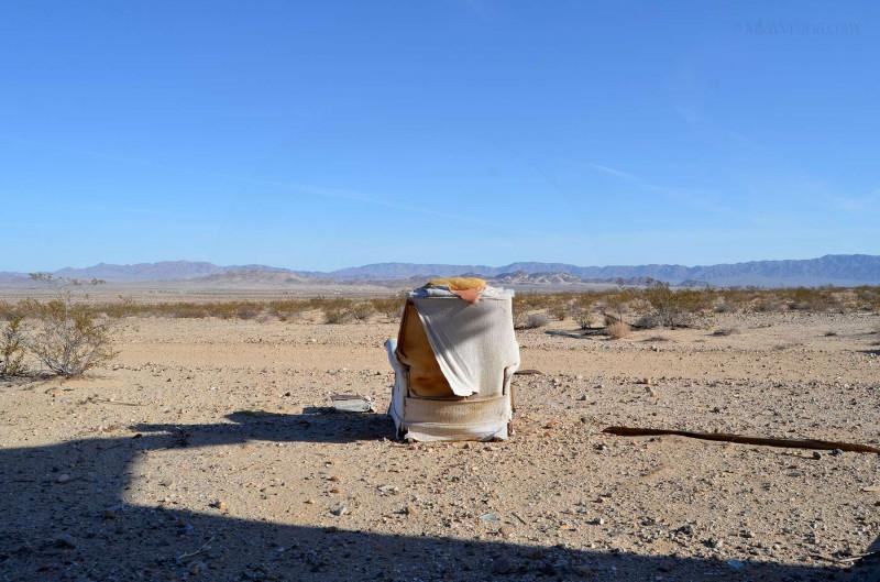 Old chair in Wonder Valley desert