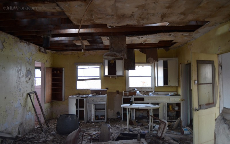 Interior of house destroyed