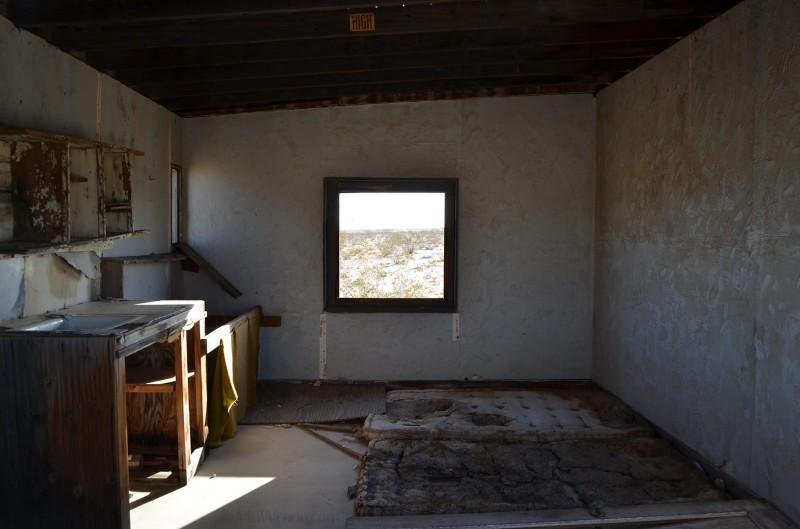 inside a desert shack