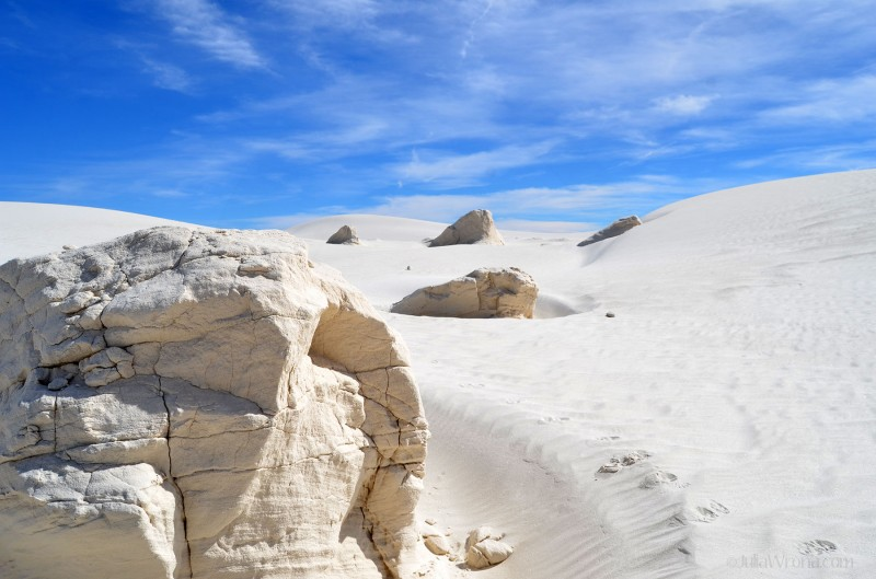 Sand formations at White Sands National Park