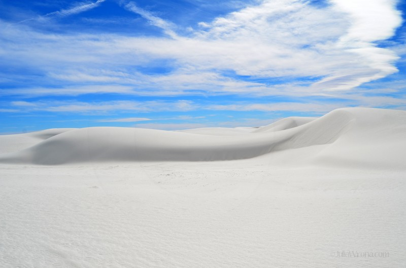 Glossy sand at White Sands National Park