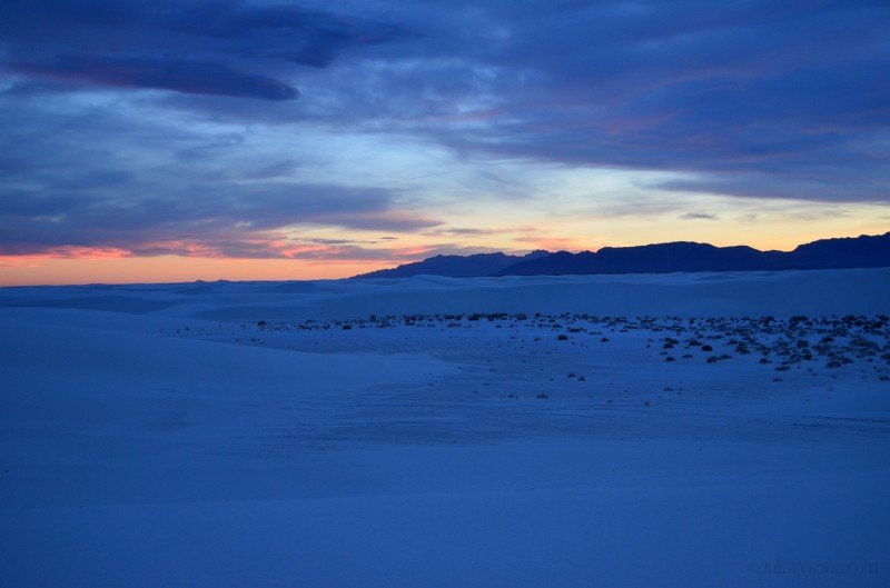Sunset at White Sands National Park