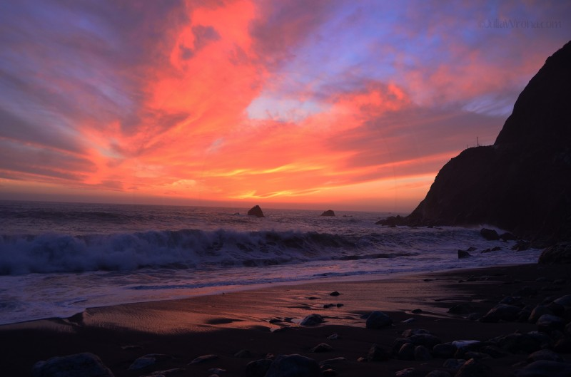 Big Sur, California at Sunset (Lime Kiln)