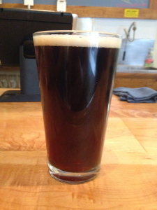 Pint of Stumbler Brown Ale from Argyle Brewing Company (craft beer)
