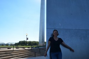 Julie at the St Louis Gateway Arch