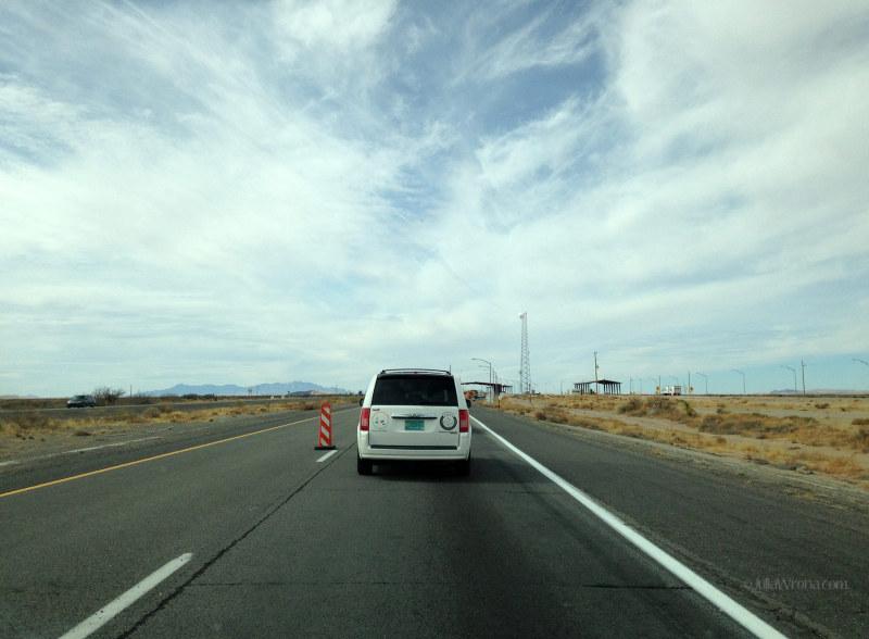 New Mexico interior border patrol stop on i-10