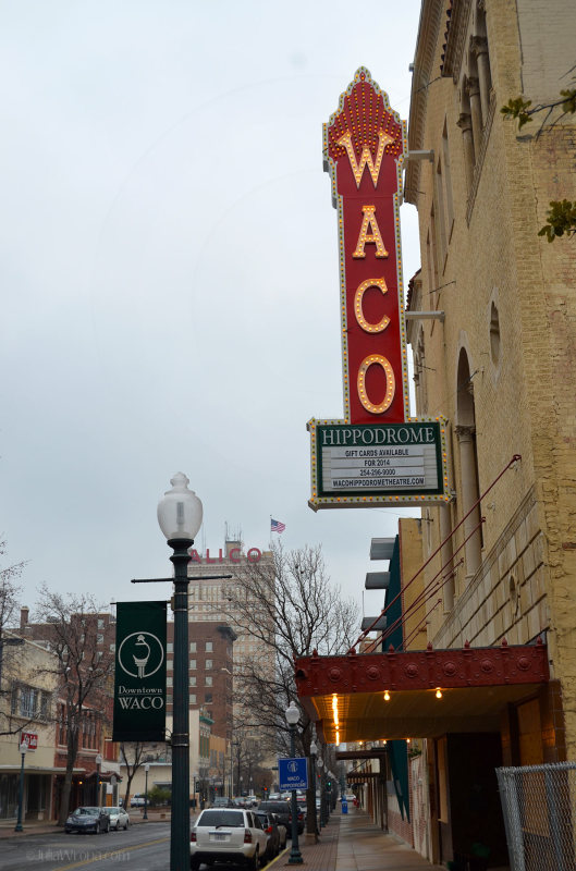 Waco Hippodrome Sign Texas