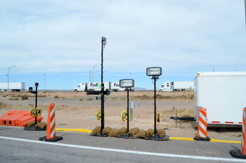 Border Patrol checkpoint on i-10 in New Mexico