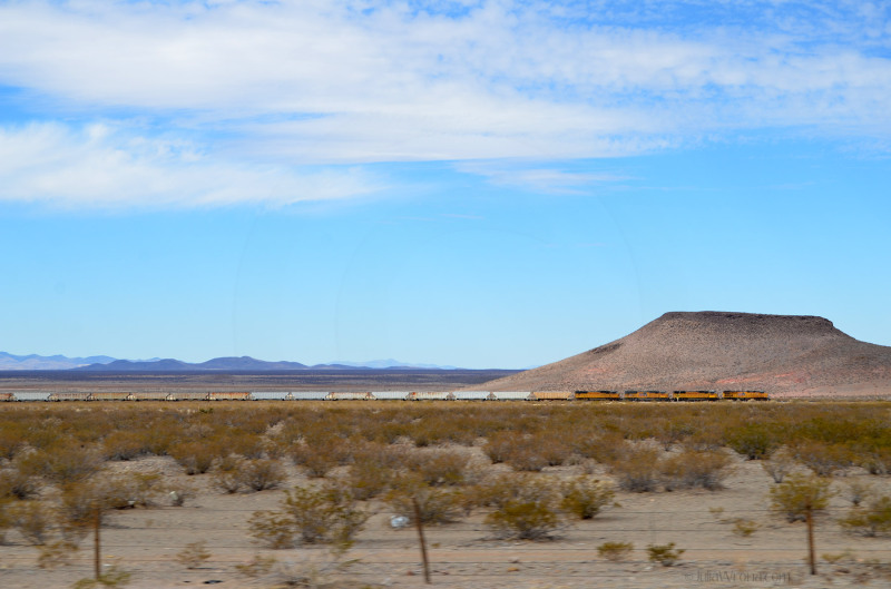 Train parallel to i-10 West from New Mexico to Arizona