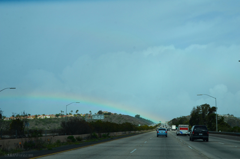 Rainbow across i-8 in California