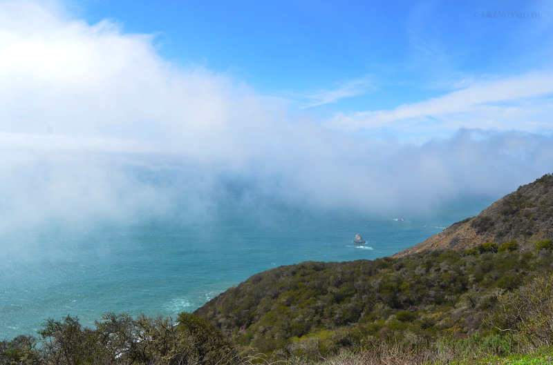Fog over the Pacific from Route 1 California