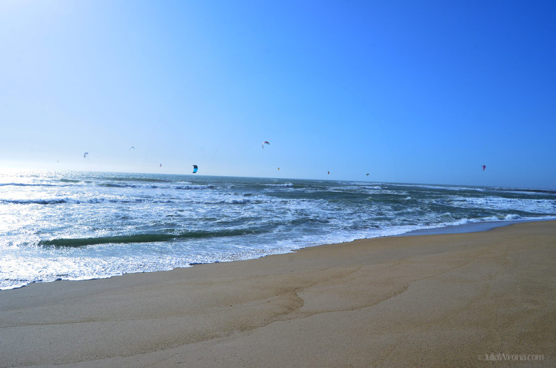 Kite Surfers on the Pacific in California