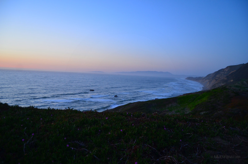 Sunset over the Pacific in Pacifica, California