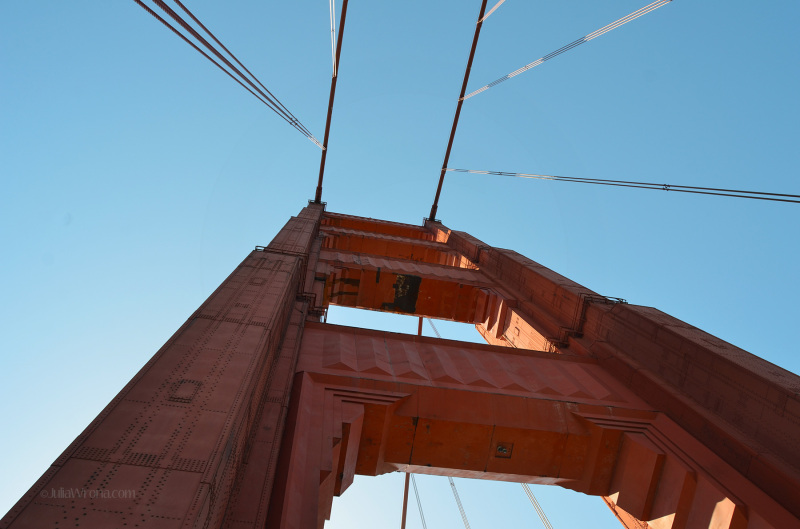 Upright of the Golden Gate Bridge From Below