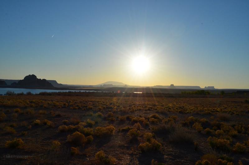 Sunrise over Lake Powell