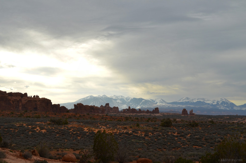 Parade of Elephants & La Sal Mountains