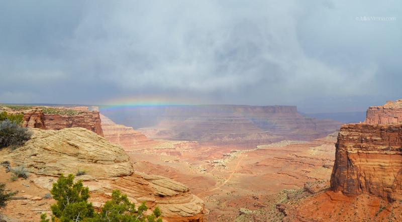 Rainbow over Canyonlands National Park