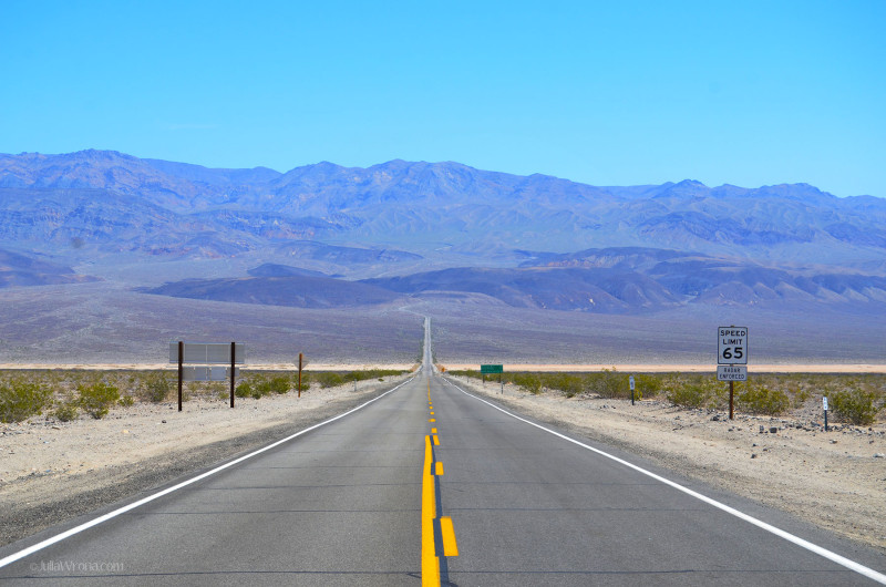 Road into Death Valley National Park
