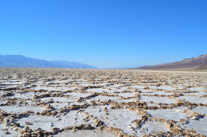 Textured salt crust in Badwater Basin