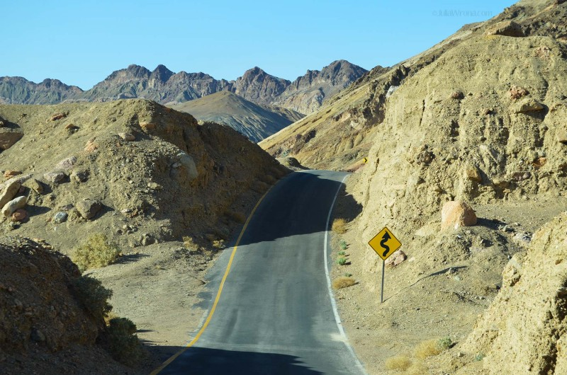 Curvy road in Death Valley National Park
