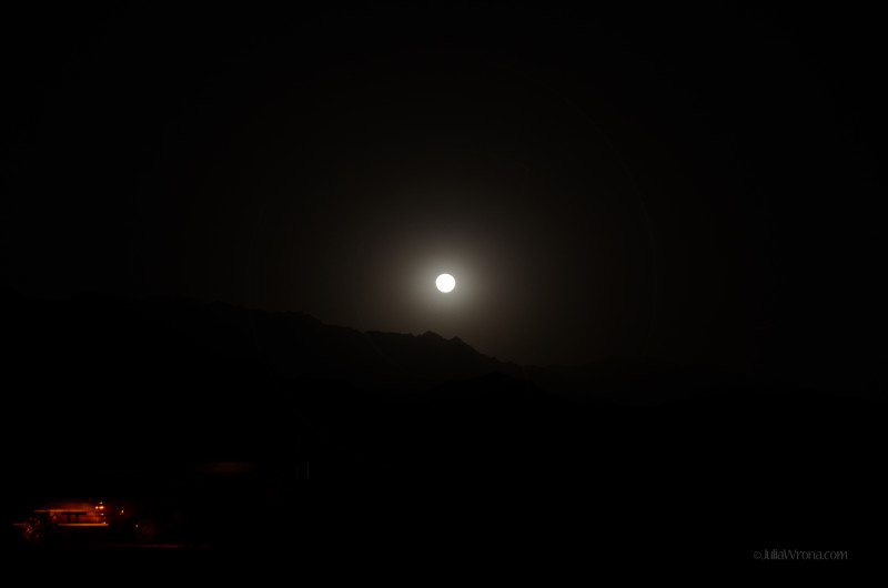 Moonrise in Furnace Creek, Death Valley