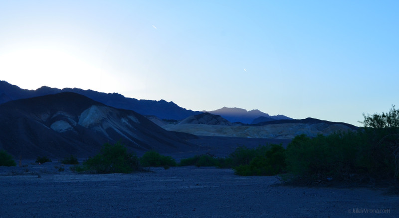 Dawn at Furnace Creek in Death Valley