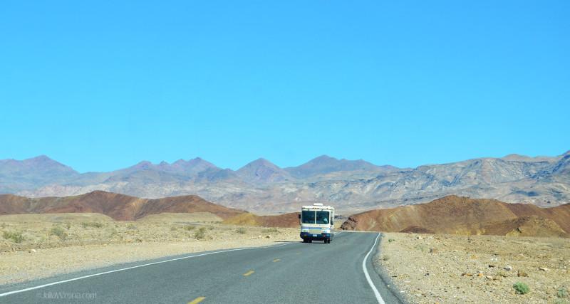 RV Camper in Death Valley National Park