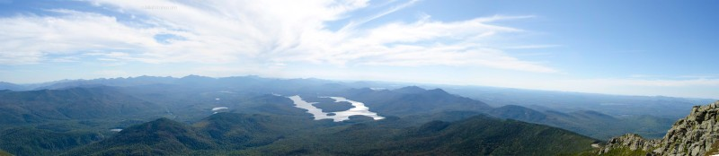 View of Lake Placid from the top of Whiteface