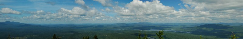 View from the top of Catamount Mountain in the Adirondacks