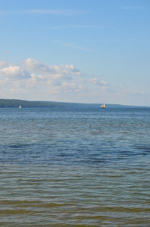 Sailboat on Seneca Lake