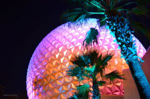 JKW_9991eweb Spaceship Earth at Night.jpg